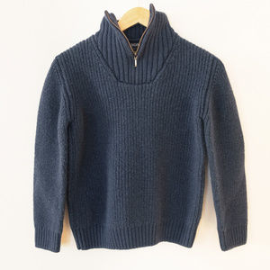 Filson Funnel Neck Zip Sweater in Navy